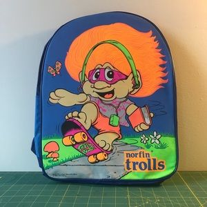 90s Club Kid Rave Trolls Neon Backpack